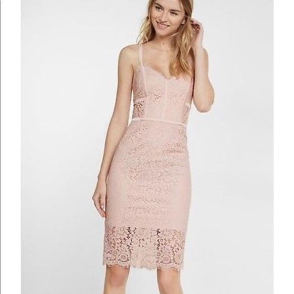Express Lace Piping Sheath Dress Nwt
